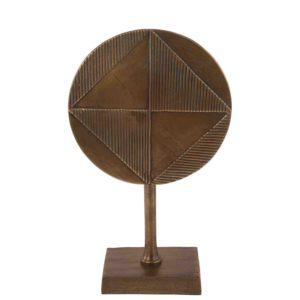 Dekoration mit fuß Ricco klein vintage Bronze