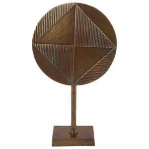Dekoration zu fuß Ricco groß vintage Bronze