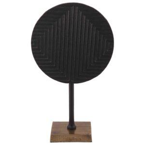 Dekoration mit fuß Divani groß schwarz + Bronze