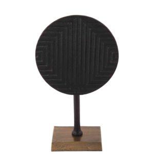 Dekoration mit fuß Divani klein schwarz + Bronze