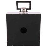 Standuhr Cavelli quadratisch groß schwarz + glänzend Chrom