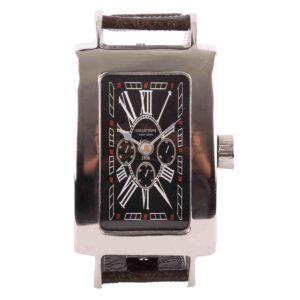 Tischuhr Louis 31112 glänzend Chrom + schwarzes Zifferblatt