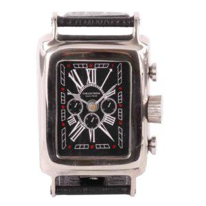 Tischuhr Louis 31113 glänzend Chrom + schwarzes Zifferblatt