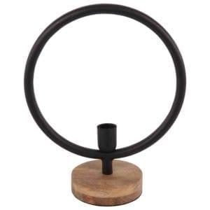 Tischlampe Global gross 34cm matt schwarz