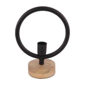 Tischlampe Global klein 24cm matt schwarz