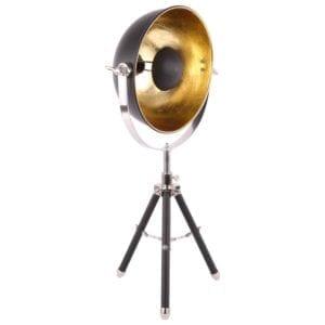 Tischlampe Globe matt schwarz + Goldfarben