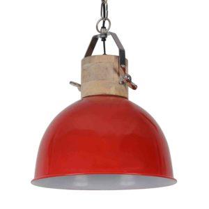 Hängelampe Fabriano glänzend rot