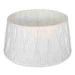 Stehender Lampenschirm Riva oval weiß