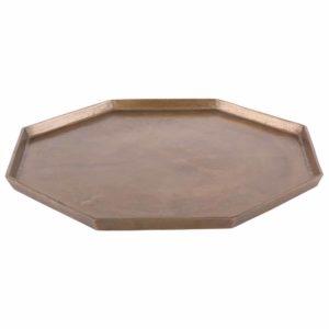 Tablett Octagon groß Bronzeoptik 50 cm