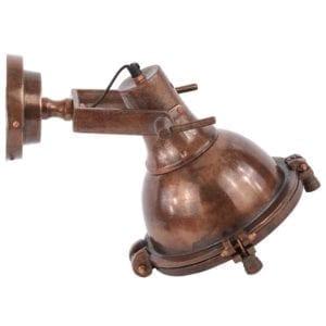 Wandlampe Toscane vintage kupfer