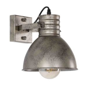 Wandlampe Sophia 1 Fach Antik-Silber