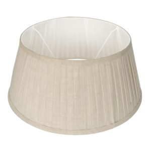 Stehender Lampenschirm plisse Veneto drum 55 cm naturel