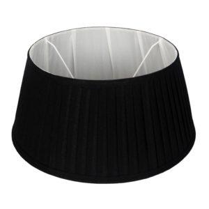 Stehender Lampenschirm plisse Veneto drum  schwarz