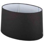Stehender Lampenschirm ambienta oval schwarz