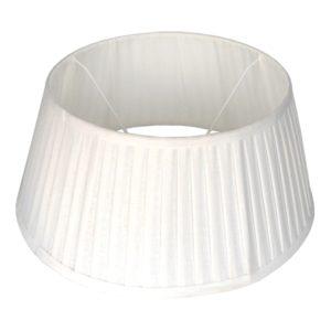Stehender Lampenschirm plisse Veneto drum weiß